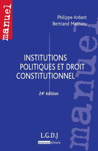 9782275037905: institutions politiques et droit constitutionnel - 24e edition
