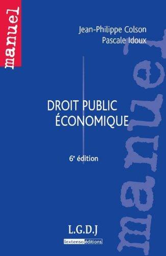 9782275037974: Droit public �conomique