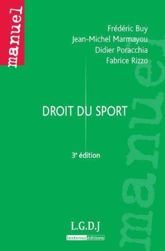 Droit du sport: Buy/ Marmayou/ Porac