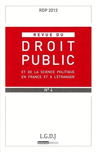 Revue Droit Public Rdp N 4-2012