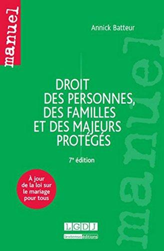 9782275039275: Droit des personnes, des familles et des majeurs protégés (7e édition)