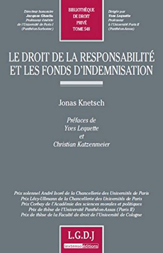 Le droit de la responsabilité et les fonds d'indemnisation: Jonas Knetsch