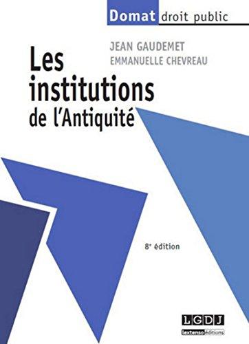 9782275040899: Les institutions de l'Antiquité