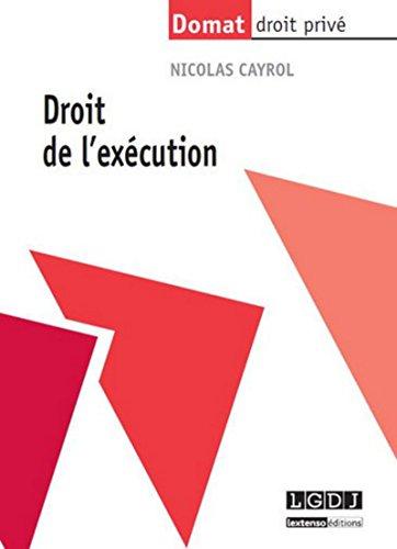 9782275041254: Droit de l'exécution (Domat droit privé)