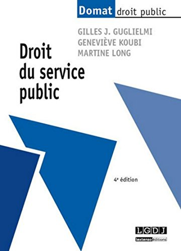 9782275041520: Droit du service public, 4ème Ed.