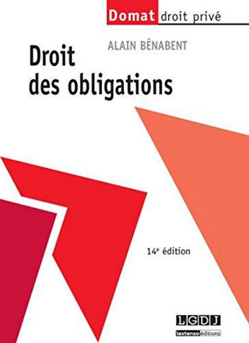 9782275041599: Droit des Obligations, 14eme Édition