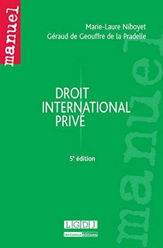 9782275042138: Droit International Prive, Cinquième ed.