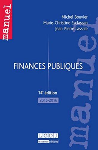 Finances publiques 2015-2016: Jean-Pierre Lassale; Marie-Christine Esclassan; Michel Bouvier