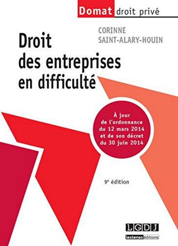 9782275042374: Droit des Entreprises en Difficulté, Neuvième ed.