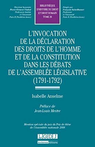 L' invocation de la déclaration des droits de l'homme et de la constitution dans ...