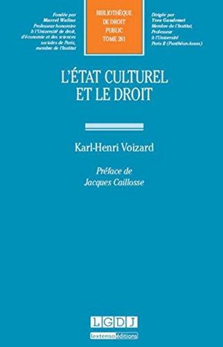 9782275043500: L' état culturel et le droit