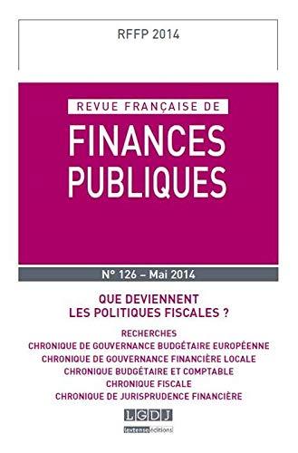 Rffp - revue francaise de finances publiques n 126 - 2014: Collectif