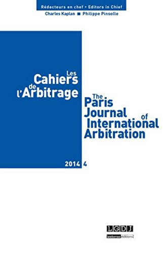 Les Cahiers de l'Arbitrage, N° 4/2014 :