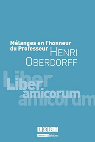 Mélanges en l'honneur de Henri Oberdorff