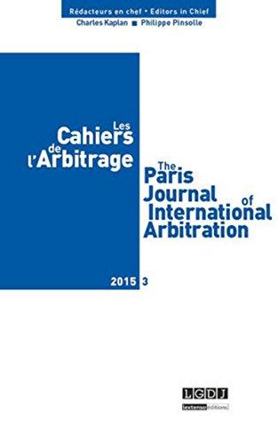 Cahiers de l'arbitrage n 3-2015 (les)