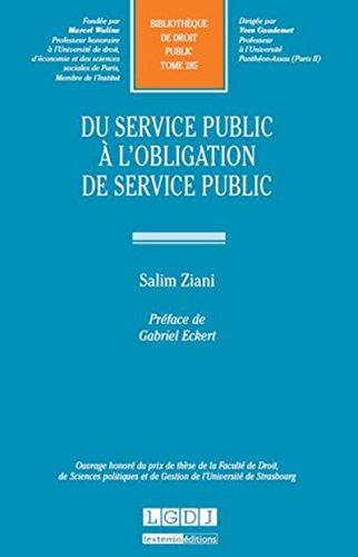 Du service public à l'obligation de service public