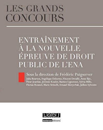 9782275049700: Entrainement � la nouvelle �preuve de droit public de l'ENA