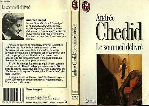 Le sommeil delivre (French Edition): Andree Chedid