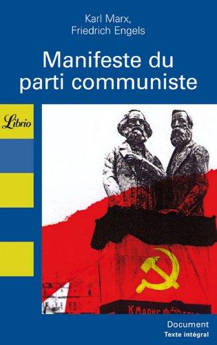 Manifeste du parti communiste: Engels Mazauric Karl