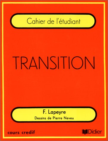 Transition: Cahier de letudiant: F. Lapeyre