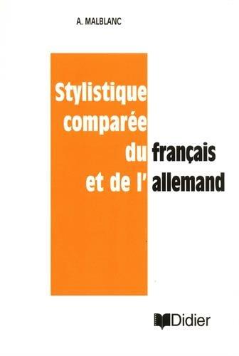 9782278005703: STYLISTIQUE COMPAREE FRANCAIS ET ALLEMAND
