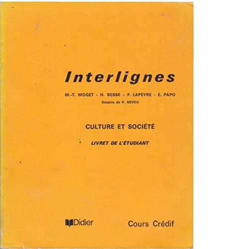 Interlignes culture et societe: n/a