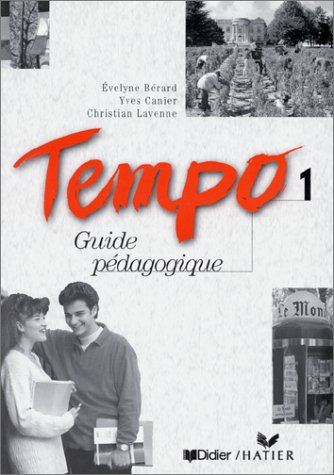 9782278044269: Tempo: Guide Pedagogique 1 (French Edition)