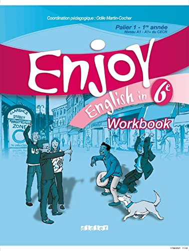 9782278058532: Enjoy English in 6e Palier 1-1re année Niveau A1-A1+ du CECR : Workbook