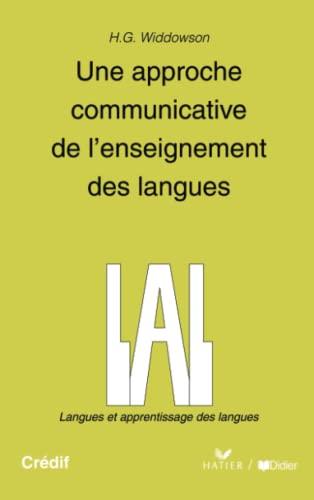 9782278058938: Une approche communicative de l'enseignement des langues