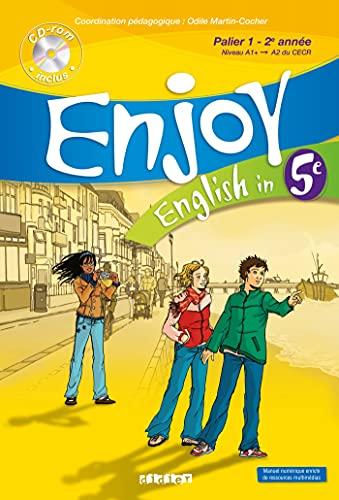 9782278060580: English in 5e Enjoy : Palier 1 - 2e année (1CD audio)