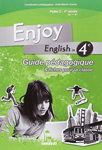 9782278063017: Enjoy english in 4e : Guide pédagogique & fiches pour la classe