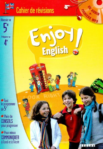 9782278063215: Enjoy english ! 5e : Cahier de révision (1CD audio MP3)