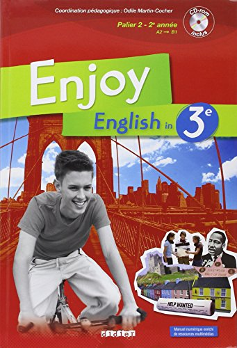 9782278063635: Enjoy English in 3e Palier 2 - 2e Année (1CD audio) (French Edition)