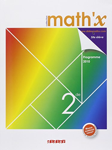 9782278063871: Math'x 2e 2010 (French Edition)