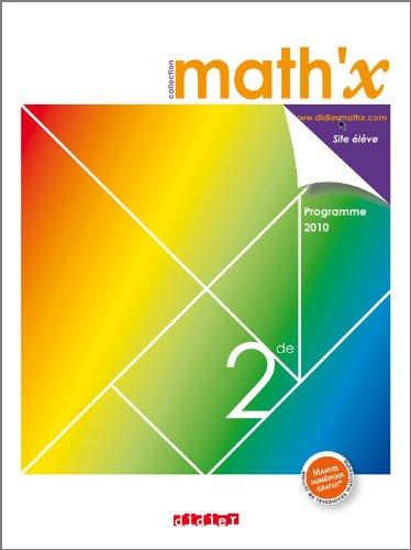 9782278068937: Math'x 2de - manuel petit format - édition 2010