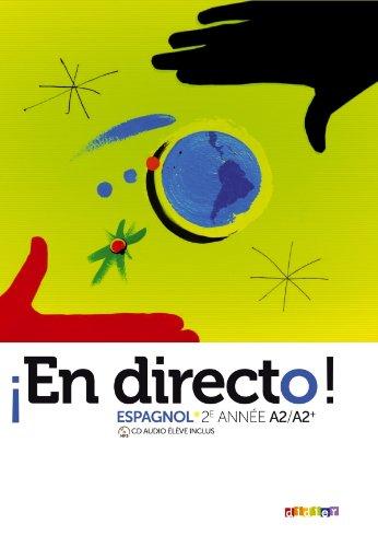 9782278072477: En directo 2e année - Manuel + CD mp3