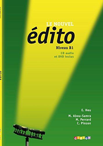 9782278072699: Le nouvel Edito B1 - Livre + CD + DVD [DVD format: PAL]