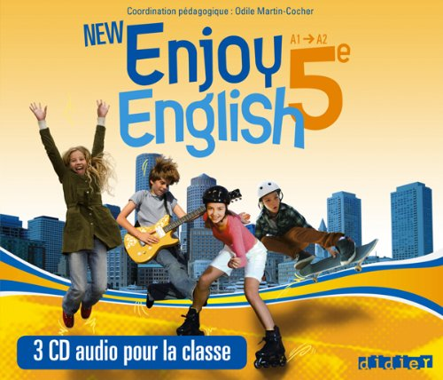 9782278073238: new enjoy english 5e - coffret cd audio classe