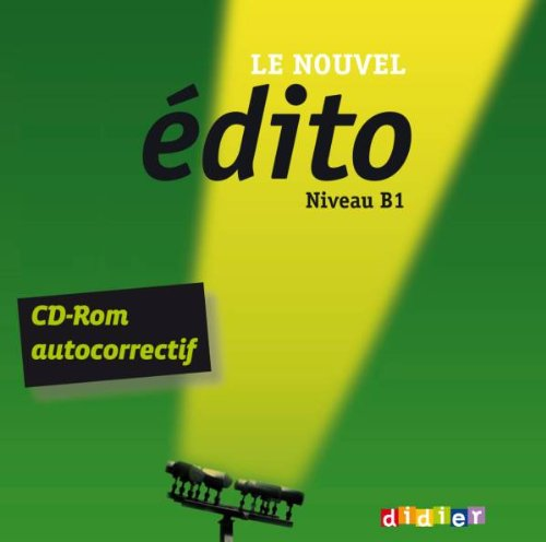 9782278074488: Le nouvel Edito B1 - CD-rom d'exercices