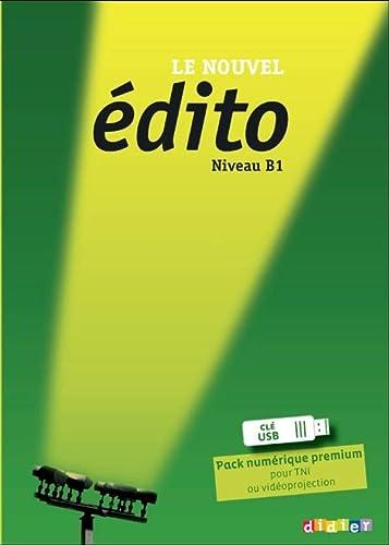 9782278076697: Le Nouvel Edito B1 - Pack numérique premium Clé USB