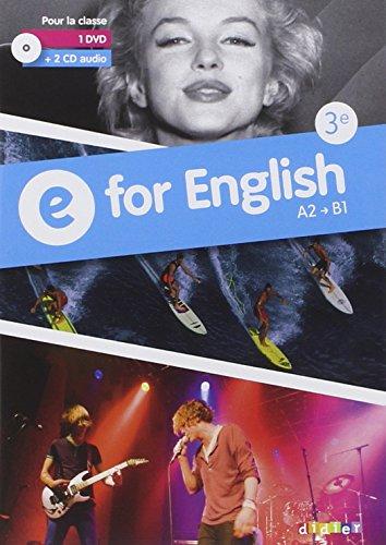 9782278079261: E for English 3e - Coffret Classe - CD audio + DVD