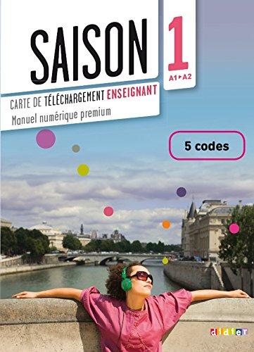 9782278080335: Saison 1 - Carte de téléchargement numerique enseignant - 5 codes (French Edition)