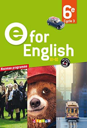 9782278083725: E for English 6e - Livre - Nouveau programme 2016