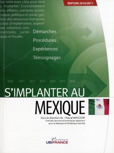 9782279452490: S'implanter au mexique