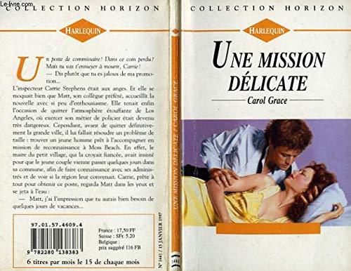 9782280138383: Une mission délicate (Collection Horizon)