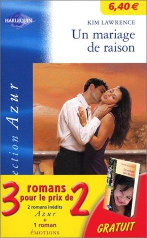 9782280177450: Coffret 3 volumes : Un mariage de raison (Azur) - Rencontre providentielle (Azur) - Un enfant tant désiré (Emotions)
