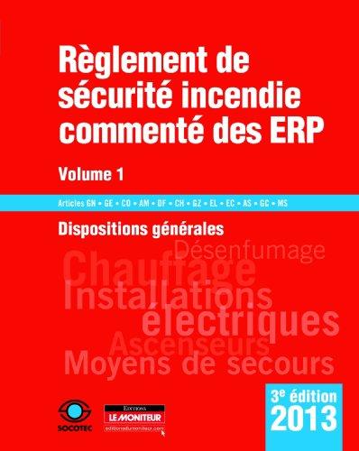 9782281115956: Règlement de sécurité incendie commenté des ERP 2013 (French Edition)