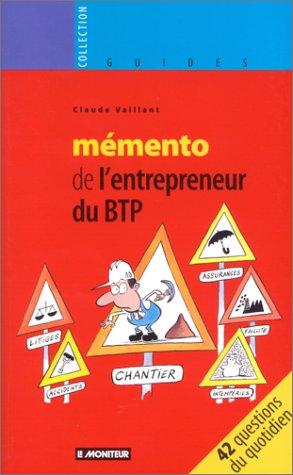 9782281122572: Mémento de l'entrepreneur du BTP