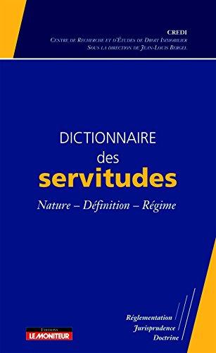 9782281124293: Dictionnaire des servitudes (French Edition)