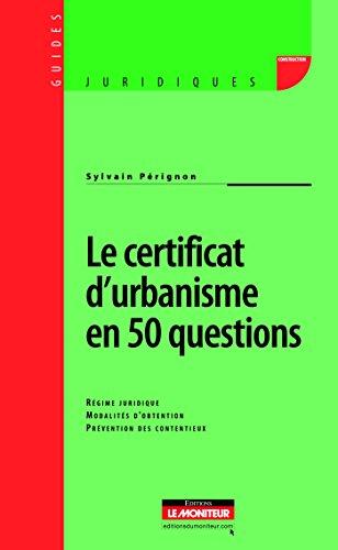 9782281127287: Le certificat d'urbanisme en 50 questions (French Edition)
